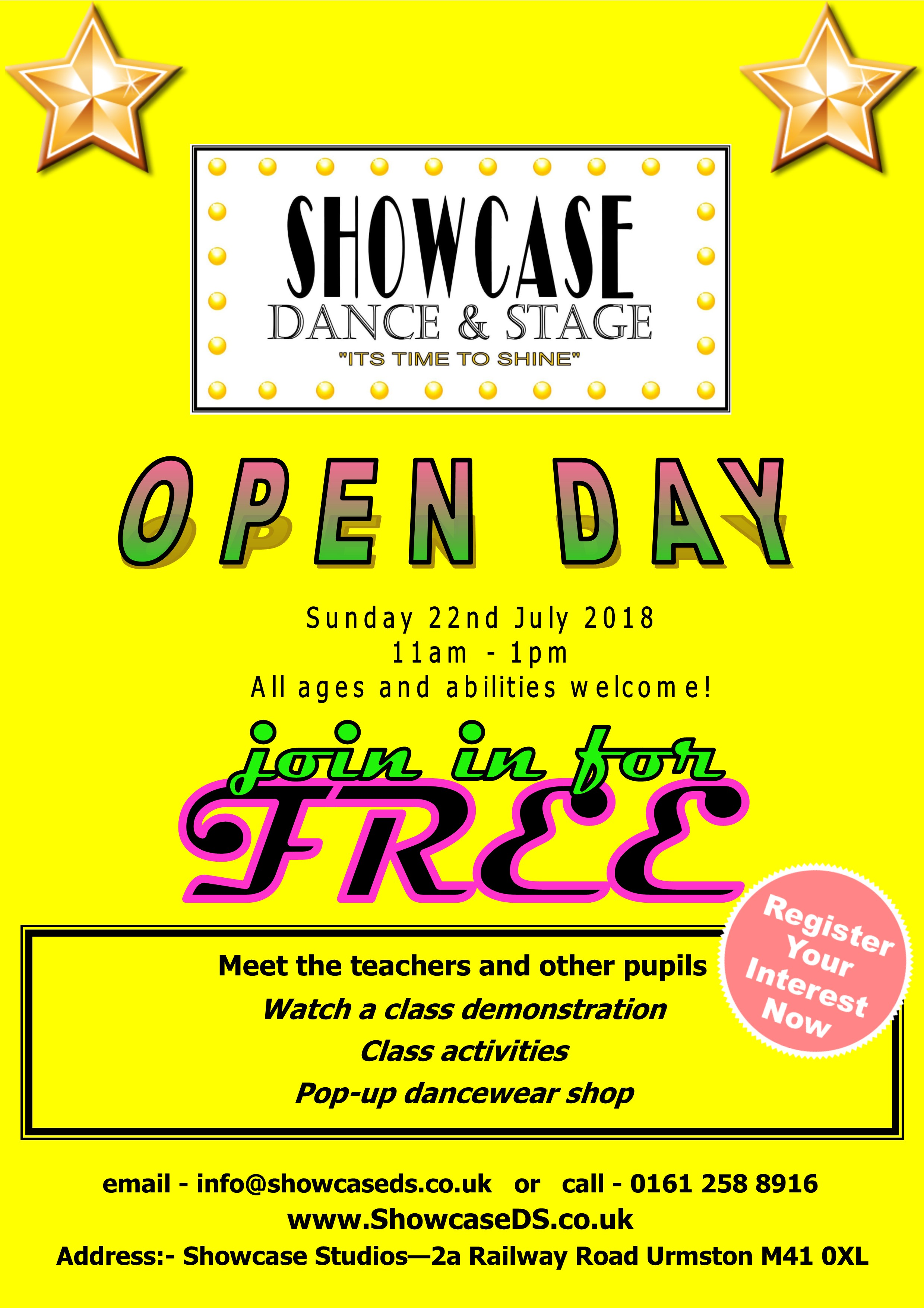 ShowcaseDS MCR Open Day 250519