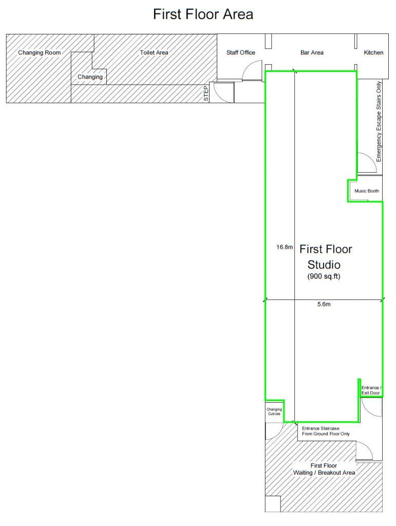 SDS first floor studio