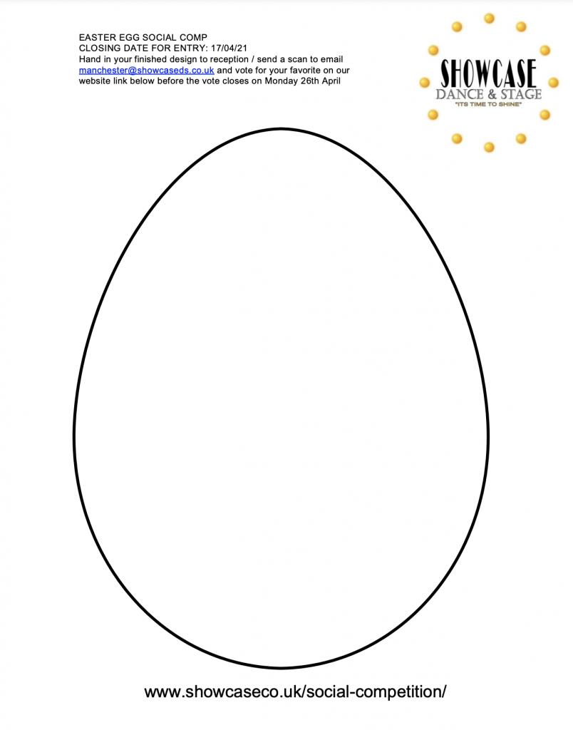 Easter Egg Social Colouring Comp Template